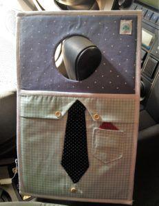 Tutorial, DIY, Passo à Passo Lixeira carro do papai gravata 2.