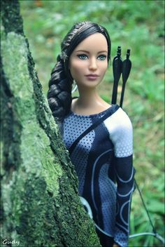 Katniss Everdeen doll, Hunger Games, photo by Gudy