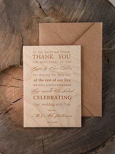 THANK YOU CARDS WOOD 02/wood/THC