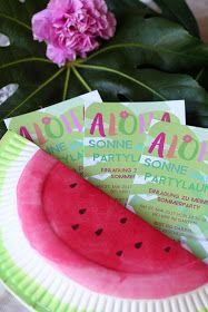 DIY, Einladung, Kindergeburtstag, Wassermelone, Sommer