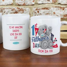 Personalised Me To You 1st Fathers Day Mug P0805G88 Lots more ideas in store at: http://www.lmfpersonalisedgifts.co.uk