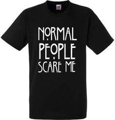 Normale mensen schrikken mij T-shirt  offerte t-shirt  mode