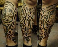 tattoo maori na perna fechada - Pesquisa Google