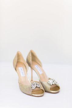Jimmy Choo shoes. Brides shoes. Embelished shoes. Gold shoes. Image by Wesley Vorster