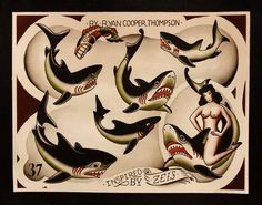Ryan Cooper Thompson Tattoo Flash | KYSA #ink #design #tattoo