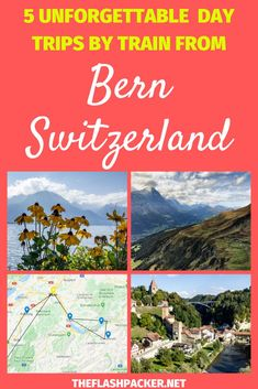 Discover the best day trips from Bern, Switzerland by train, from Montreux on the shores of Lake Geneva to the alps of the Bernese Oberland.