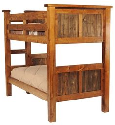 Amazon.com: Rustic Wood Twin Over Twin Bunk Bed: Home & Kitchen