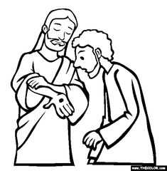 Free Bible Stories Coloring Pages. Color in this picture of Doubting Thomas the Apostle and others with our library of online coloring pages. Save them, send them; they& great for all ages. Jesus Crafts, Bible Story Crafts, Bible School Crafts, Preschool Bible, Bible Activities, Bible Stories, Sunday School Projects, Sunday School Activities, Sunday School Lessons