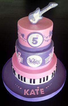 Violetta Birthday Cake with Guitar Cake Topper by Virginie's Cakery