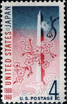 "USA 4c 1960 ""Gunboat Politics, Subjugation of Japan commemoration"""