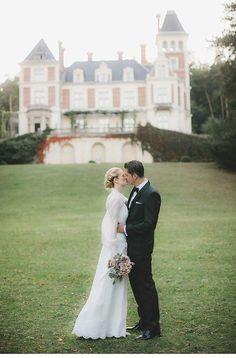 An Intimate Vintage Wedding at an Austrian Castle - Chic Vintage Brides Wedding Blog, Wedding Venues, Chic Vintage Brides, Wedding Honeymoons, Long Sleeve Wedding, Intimate Weddings, Celebrity Weddings, Bride Groom, Wedding Dresses
