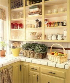 Another open kitchen cabinet ideas