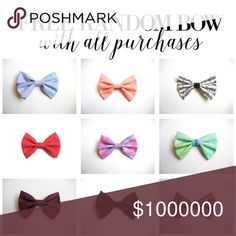 Free Random Bow 🎀 Free RANDOM pick hairbow with any purchase. no choosing design. Thank you! Accessories Hair Accessories