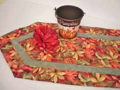 Autumn Leaves Quilted Runner Handmade Table Accent Fall Home Decor Fall Table Accent Housewarming gift