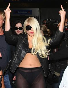 I can't believe we still care about this woman, but when Lady Gaga shoves herfrozen humility down asheer ass-displaying pantyhose then flips the bird at anyone within 50 feet of her it's a kind of news. I guess controversy still sells news articles.