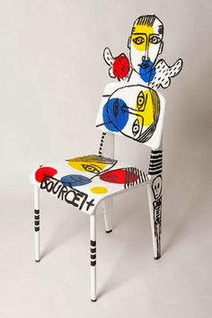 For Sale Chairs And Tables ModernDiningRoomChairs is part of Painted chair - Cheap Furniture Makeover, Painted Furniture For Sale, Chair Makeover, Furniture Outlet, Funky Chairs, Cool Chairs, Bag Chairs, Meubles Peints Style Funky, Unusual Furniture