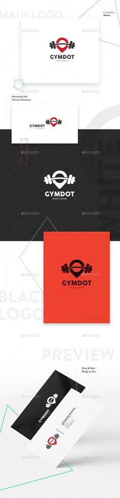 Gymdot  Logo EPS Template #sport