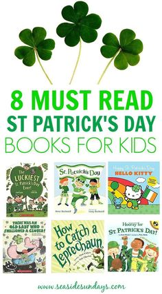 This is an awesome list of St Patrick's day books for kids! They will be great for teaching the kids about St Patty's and everything about leprechauns and the luck of the irish. These are great books for preschoolers to learn about the holiday. Preschool Books, Preschool Lessons, Preschool Activities, Books For Preschoolers, St Patricks Day Crafts For Kids, St Patrick's Day Crafts, St Patrick's Day Story, Story Time, Leprechaun Story