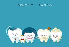 Cartoon dental care knowledge poster background material