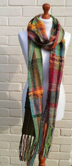 Original Saori Scarf Handwoven Scarf by LittleStickCreations