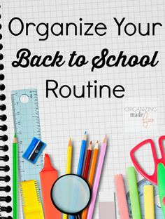 Back to school, notebook and supplies