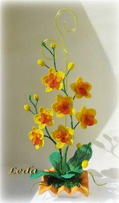Солнечная орхидея для солнечного человечка | biser.info - всё о бисере и бисерном творчестве