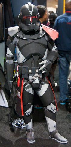 Dark Clone Trooper At Comic Con 2010