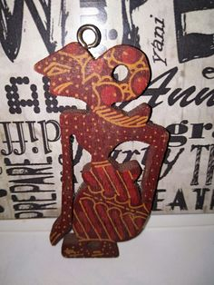 A beautiful wooden written batik souvenir of Yogyakarta, Indonesia
