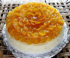 Orange Cheesecake with Kumquat Compote
