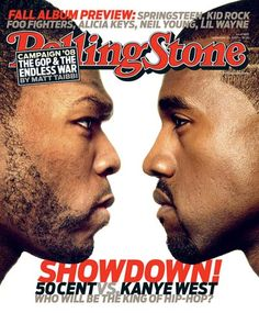 Rolling Stone cover, Kanye West vs. 50 Cent, Sept. 2007