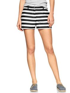 Love these black and white striped shorts from Gap!  Maybe with a chambray shirt and gold necklace?