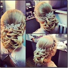 Still searching for the perfect hair inspiration for your big day? Get inspired by these gorgeous wedding hairstyles that will leave any bride tressed to impress! Romantic Wedding Hair, Hairdo Wedding, Wedding Beauty, Dream Wedding, Hairdo For Long Hair, Haircuts For Long Hair, Hair Dos, Cute Wedding Hairstyles, Bride Hairstyles