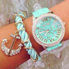 Light blue watch