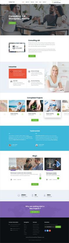 Consult aid is a professional #PSD template for the #Consultancy or #Business & Finance website download now➩ https://themeforest.net/item/consult-aid-business-consulting-finance-psd-template/19368538?ref=Datasata