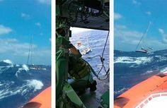 Vento forte e mare, la barca perde l'uso del timone, mayday
