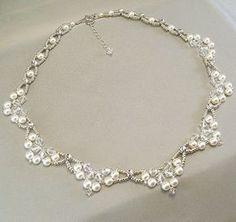 Weiß oder Creme Swarovski Perlen und Strass von BridalDiamantes