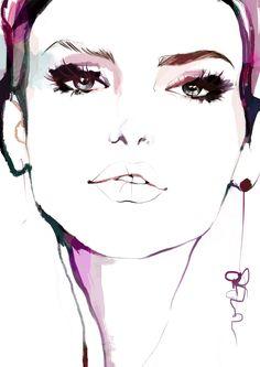 Ultraviolet by Nina Kosmyleva • Fashion Art Print | Fashion Illustration | Art poster | Wall art | Fine art print | Fashion sketch | Women Portrait | Poster  #noordwaart #art #fashion #fashionart #fineart #fineartprints #fashionillustration #wallart #homedecor #posters #fashionartprint #violet #ultraviolet #style #beauty #beautiful #women #model #makeup #hairstyle #eyes #a3 #A2