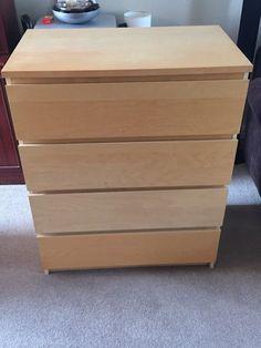 malm chest of 3 drawers white high gloss 80 x 78 cm pinterest