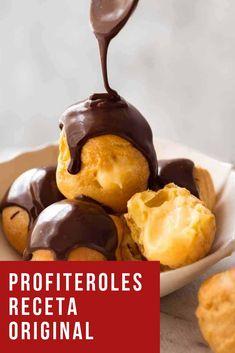Spoon drizzling melted chocolate over profiteroles Macadamia Nut Cookies, Chocolate Macadamia Nuts, Eclairs, Pasta Choux, Donuts, Hawaiian Sweet Rolls, Recipetin Eats, Recipe Tin, Desserts