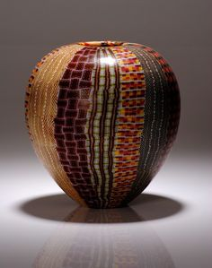 "Giles Bettison (1966-), Murrini Glass, ""TEXTILE 10 #1"""