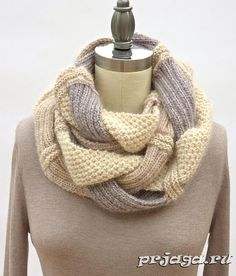 «Хала» шарф – хомут спицами