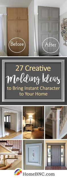 Molding ideas'll make your home into a visual delight. It makes an easy transition between different surfaces and materials. Find the best designs! *** Click image to read more details. #WonderfulHomeDecor