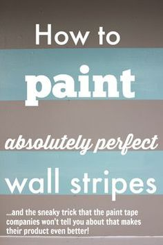 How to paint absolutely perfect wall stripes