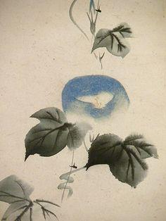 Morning Glory (detail of a hanging scroll) - Sakai Doitsu (1845-1913)
