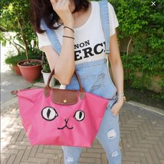 Longchamp Miaou limited edition bag Brand new never been used! Longchamp limited edition bag in short handle, sold out in the US! Pink is flashy and cute! Spring ready color! Very chic! Price is negotiable send me an offer now :) Longchamp Bags Totes