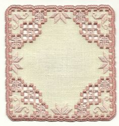 Delicate Doily in hardanger embroidery