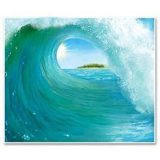 *SURF WAVE Wall Decoration*INSTANT MURAL*Luau*Hawaiian*SURFING*Shipwrecked