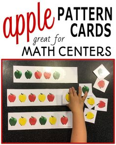 Looking for a hands on math activity your preschool or kindergarten students can work on during your apple unit? Try this colorful pattern cards! You students will enjoy working on ab, aab, abb, abc and aabb patterns with these engaging apple themed pattern cards.