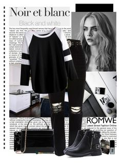 """Romwe"" by polybaby ❤ liked on Polyvore featuring River Island, Chantecaille, JINsoon and MAC Cosmetics"