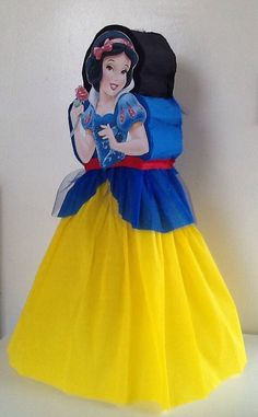 Snowwhite princess pinata. Snow white piñata. Snowwhite birthday party…
